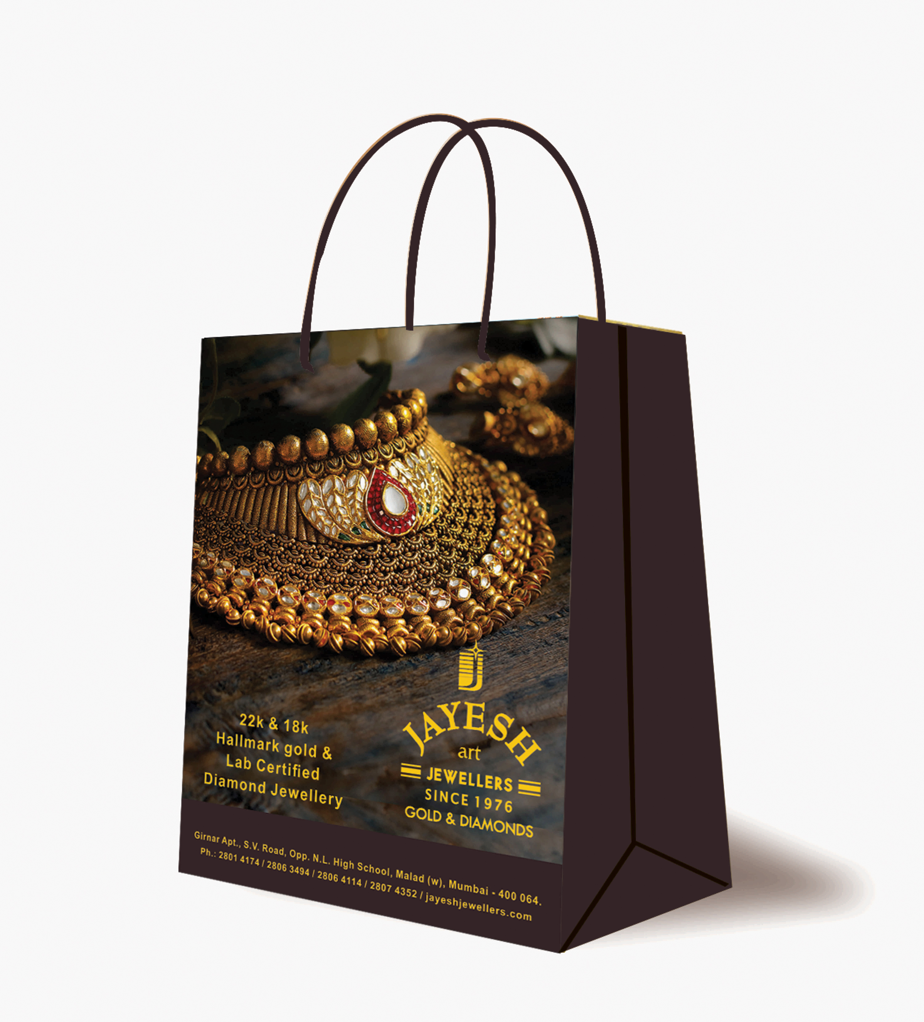 Non Tearable Paper Bags For Jewellery