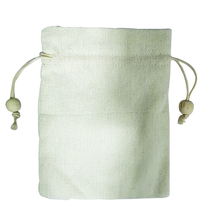 Jute Designer Pouch With Leaf Print